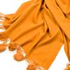 étole laine et fourrure safran ETLF14 2
