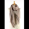 étole laine fine avec rayures beige ETLFR-FAN 02 1