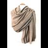 étole laine fine avec rayures beige ETLFR-FAN 02 5
