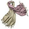 etole pashmina taupe rose réversible ETFDF-FAN-13 2
