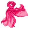 étole mousseline de soie rose fushia uni ETMS-FAN-15 1