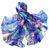 Etole en soie bleu marguerites ETS-FAN-54 1