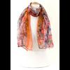 foulard mousseline de soie orange africa EMS-FAN-160 2