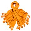 étole laine et fourrure safran ETLF14 1