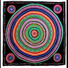 foulard en soie noir cercle premium CSGP-FAN 18 1