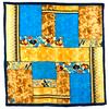 foulard en soie turquoise alambra premium CSGP-FAN 09 1