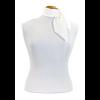 foulard en soie blanc uni petit CSPP-FAN-24 2