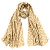 foulard chèche mixte beige petit cachemire CHEM-FAN 13 1 3
