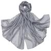 etole en soie gris ETSU-FAN 11 1