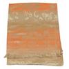 etole en pashmina beige orange motifs dégrades 3
