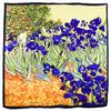 foulard en soie carre de soie les iris van gogh 1