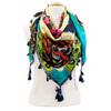 foulard en soie papillons vert 3