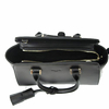 sac en cuir femme noir pompon 4