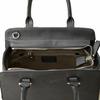 sac en cuir femme gris pompon 5
