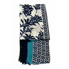 foulard cheche bleu bambou 3