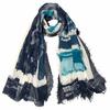 foulard cheche bleu graph