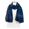 foulard cheche homme bleu marine multi frises 2