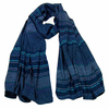 foulard cheche homme bleu marine multi frises