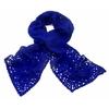echarpe laine maille crochet bleu klein 1-min