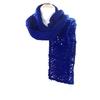 echarpe laine maille crochet bleu klein 2-min