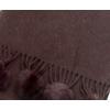 echarpe laine pompons fourrure chocolat 4-min