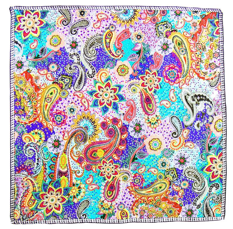 foulard carré de soie mauve lorine 1-min