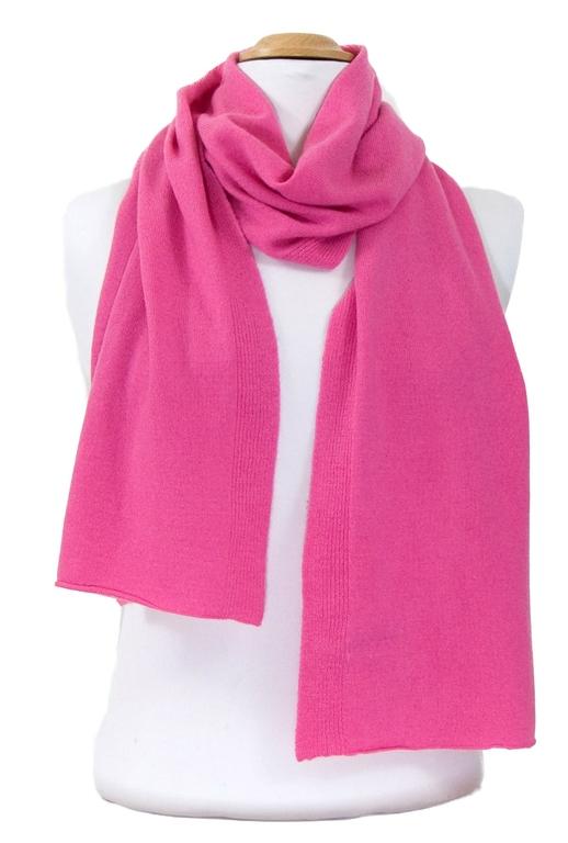 écharpe en cachemire rose blush 3-min