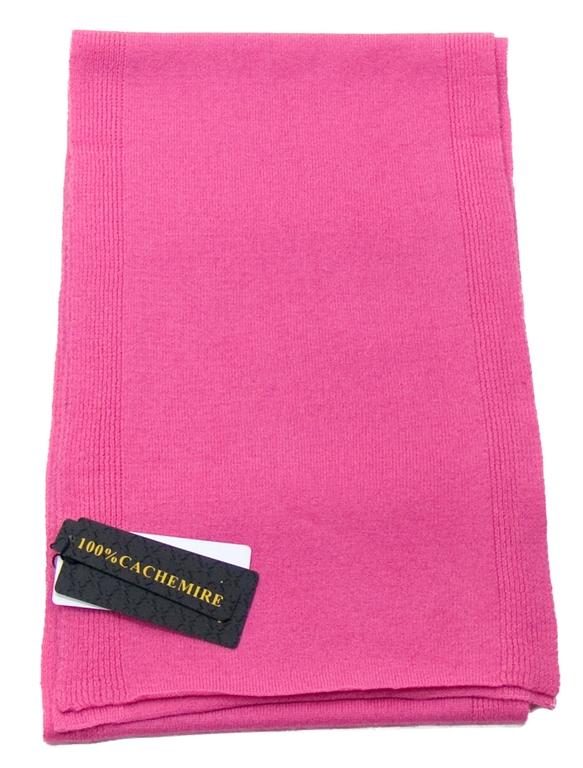 écharpe en cachemire rose blush 2-min