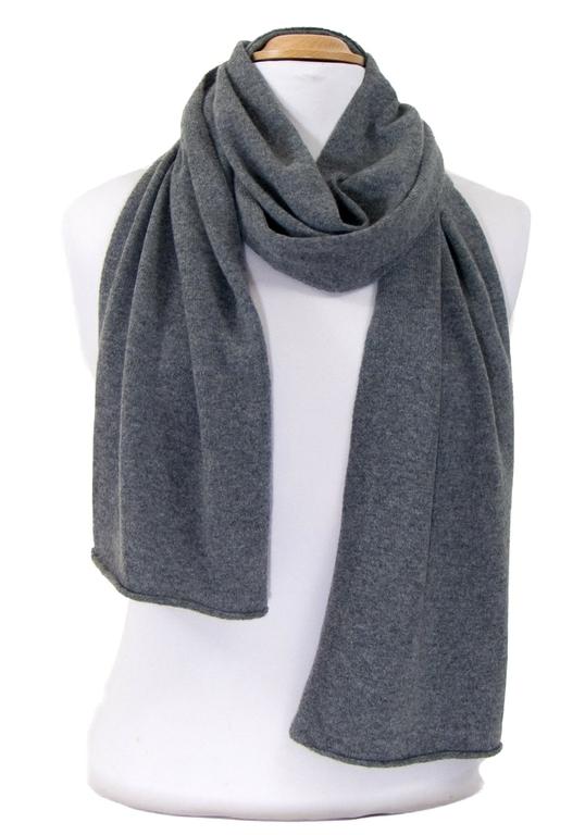 écharpe en cachemire gris foncé 3-min