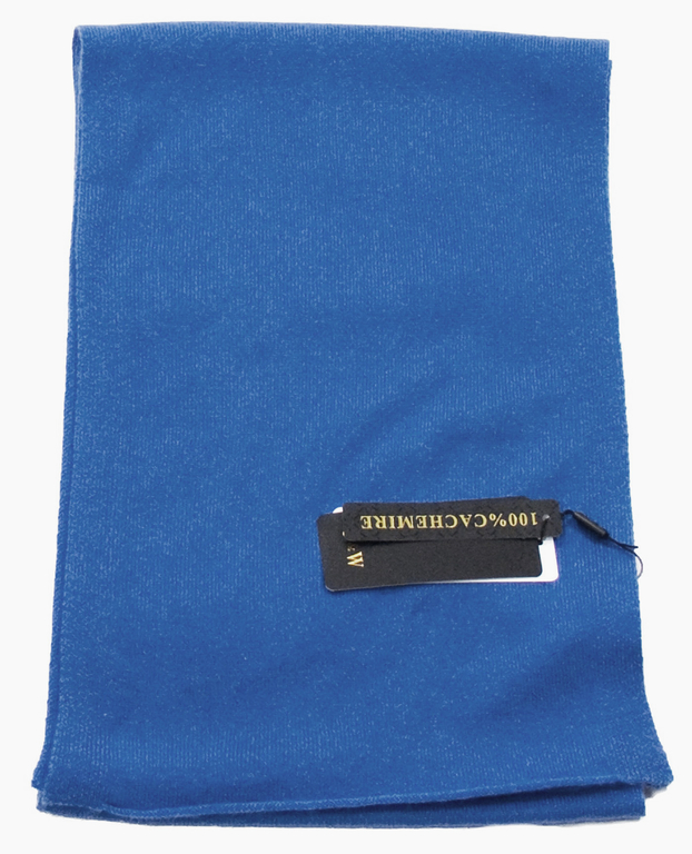 écharpe en cachemire bleu vif 2-min