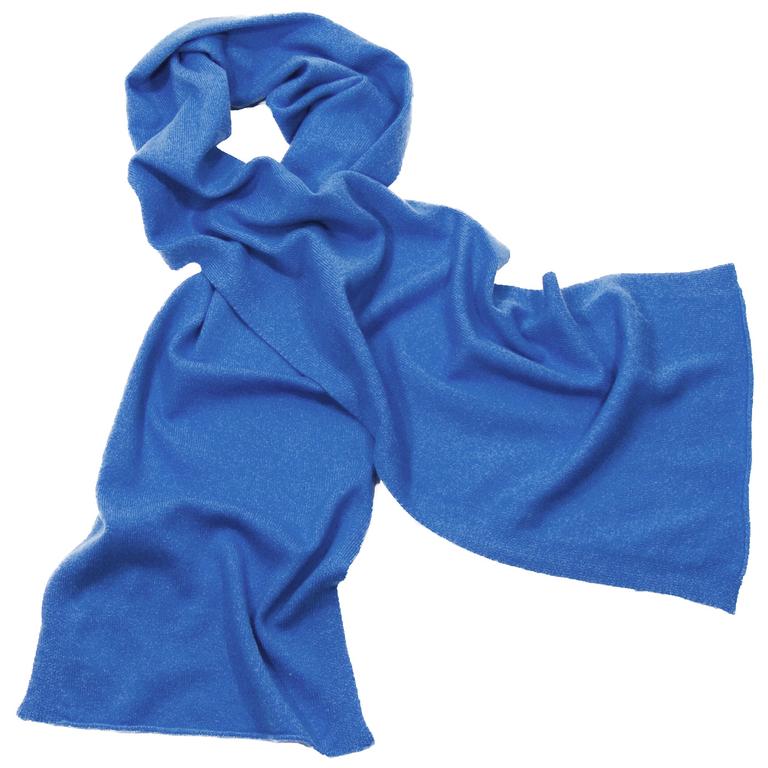écharpe en cachemire bleu vif 1-min 1
