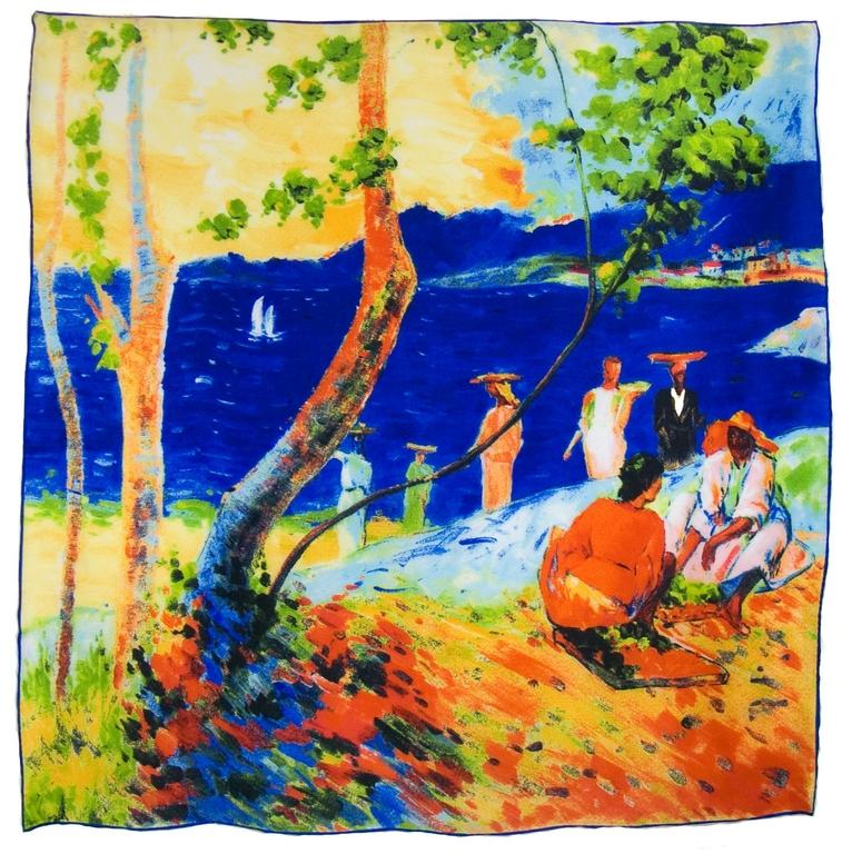 carré de soie un bord de mer Paul Gauguin 1-min