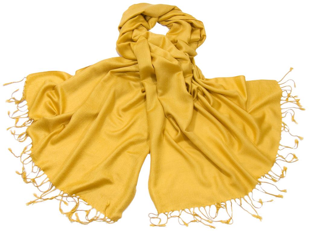 étole pashmina jaune safran uni sacha 2