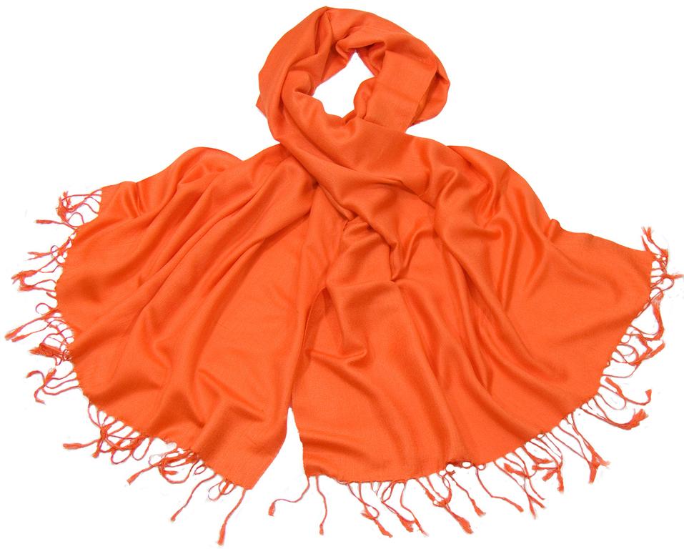 étole pashmina orange uni sacha 4