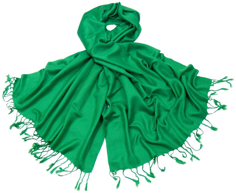 étole pashmina vert uni sacha 2