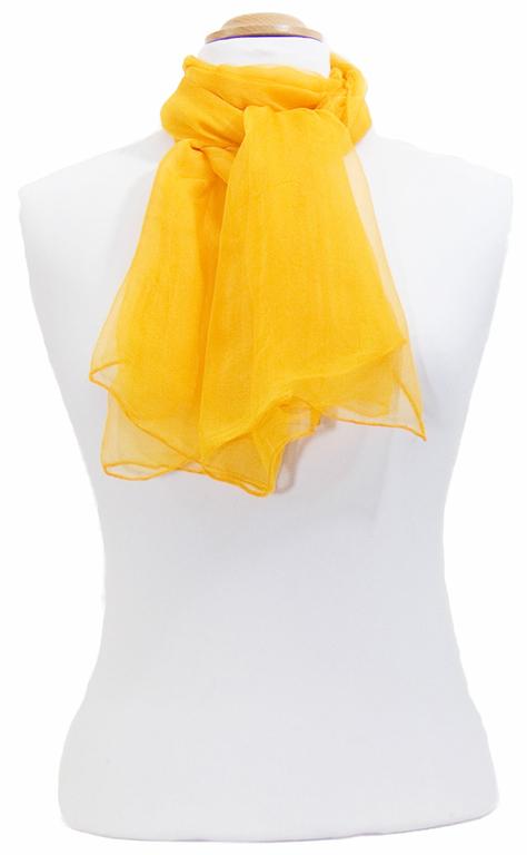 foulard orange  mousseline de soie 1