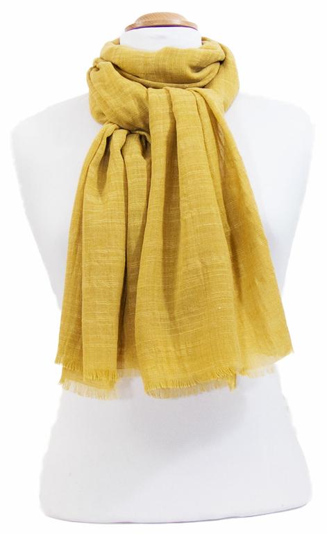 foulard lin jaune 2