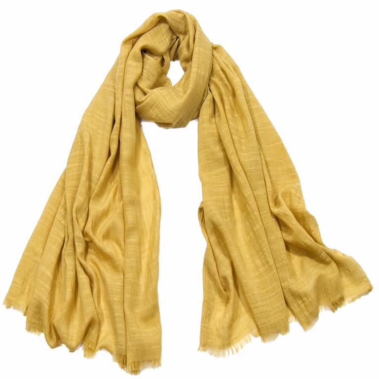 foulard lin jaune 3