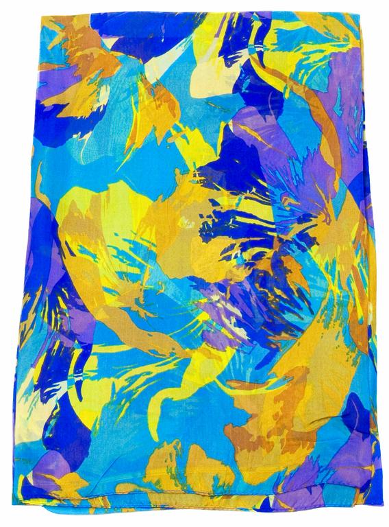 étole en soie bleu akemi 1
