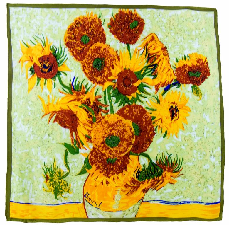 carré en soie les tournesols Van Gogh 1