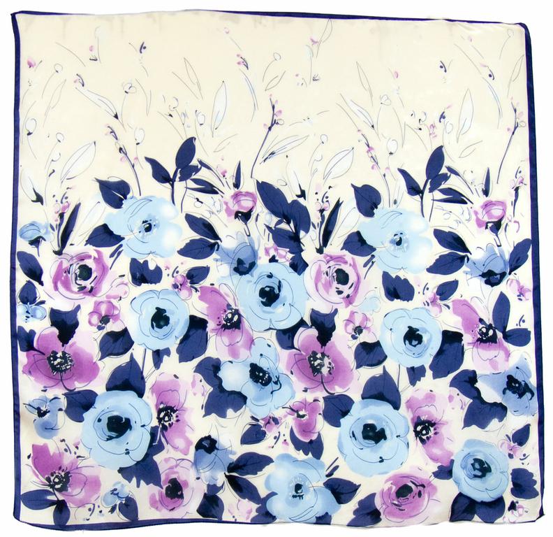 carré en soie mauve violeta 1