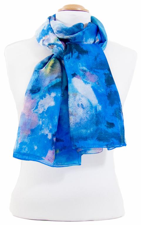 étole en soie bleu romane 3