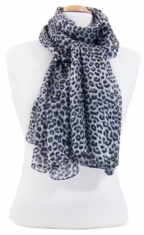 étole en soie noir léopard 3
