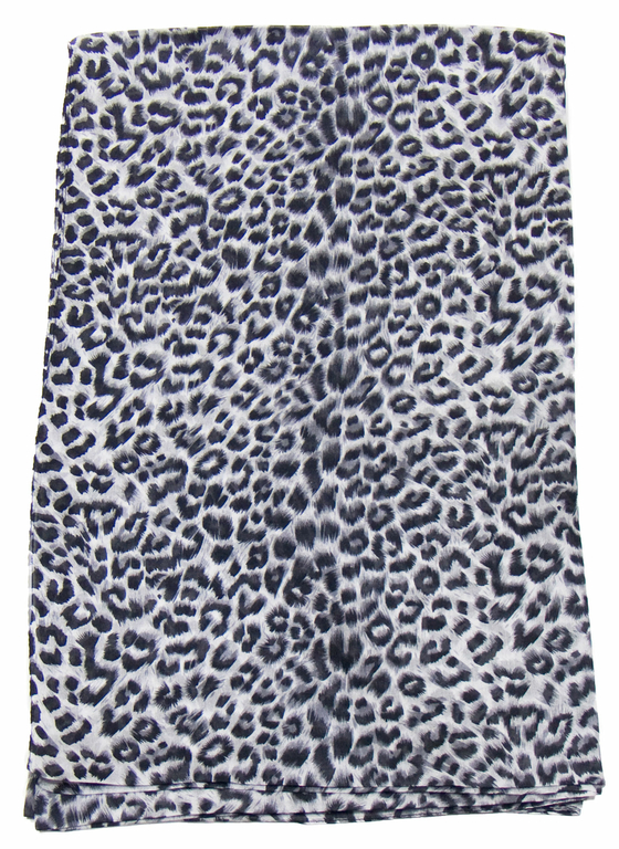 étole en soie noir léopard 1