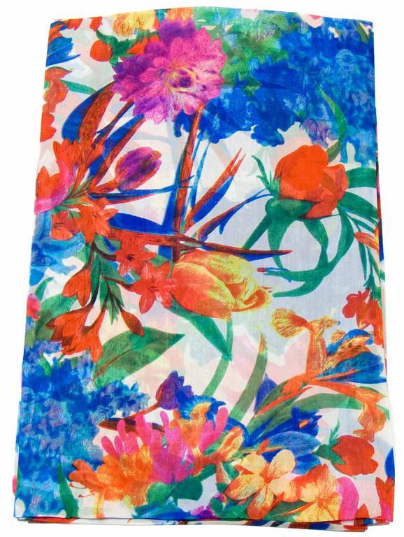 étole en soie fleurie adèle 1