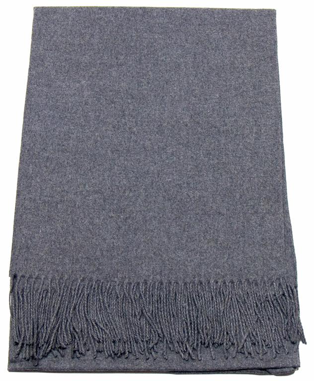 étole gris cachemire laine charlie 1