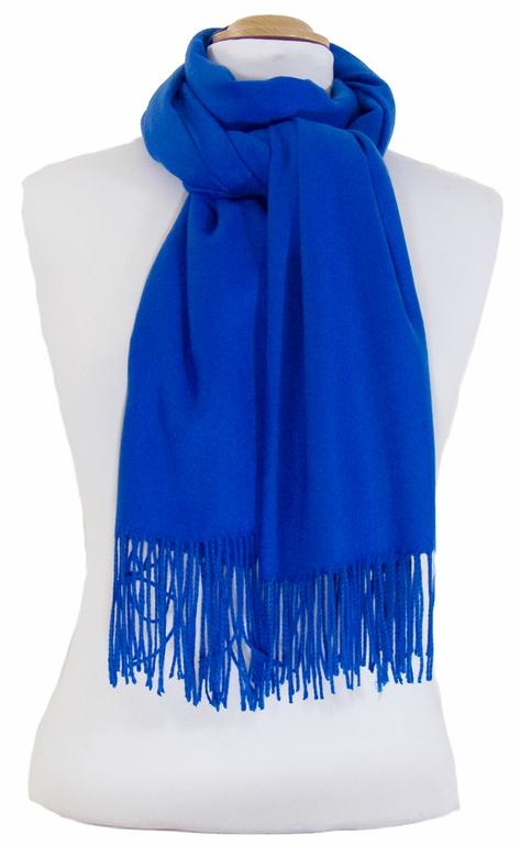 étole bleu roi cachemire laine charlie 3