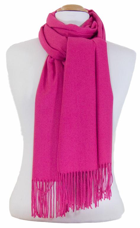 étole rose fushia cachemire laine charlie 3