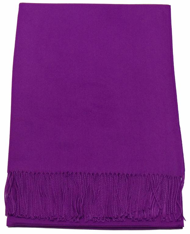 étole violet cachemire laine charlie 1