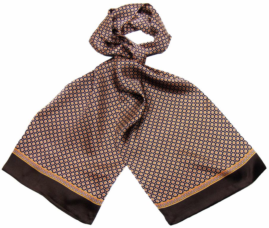 Foulard soie homme chocolat Lucas - Hommes Foulard homme - Mes ... 565803717f3